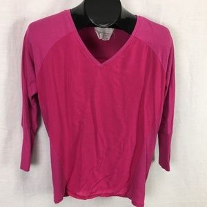 Two by Vince Camuto Shirt Top XS Pink Women Casual